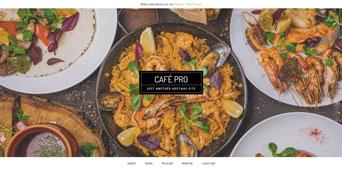 screenshot of cafe pro